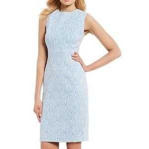 Calvin K Printed Jacquard Sleeveless Sheath Dress